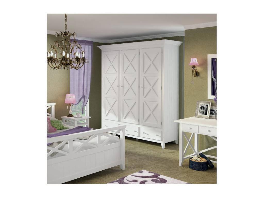 De Luxe: Океан: шкаф 3-х дверный (белый)