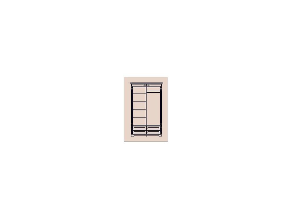 Arco Decor: шкаф 2-х дверный (беж, коричневая патина)