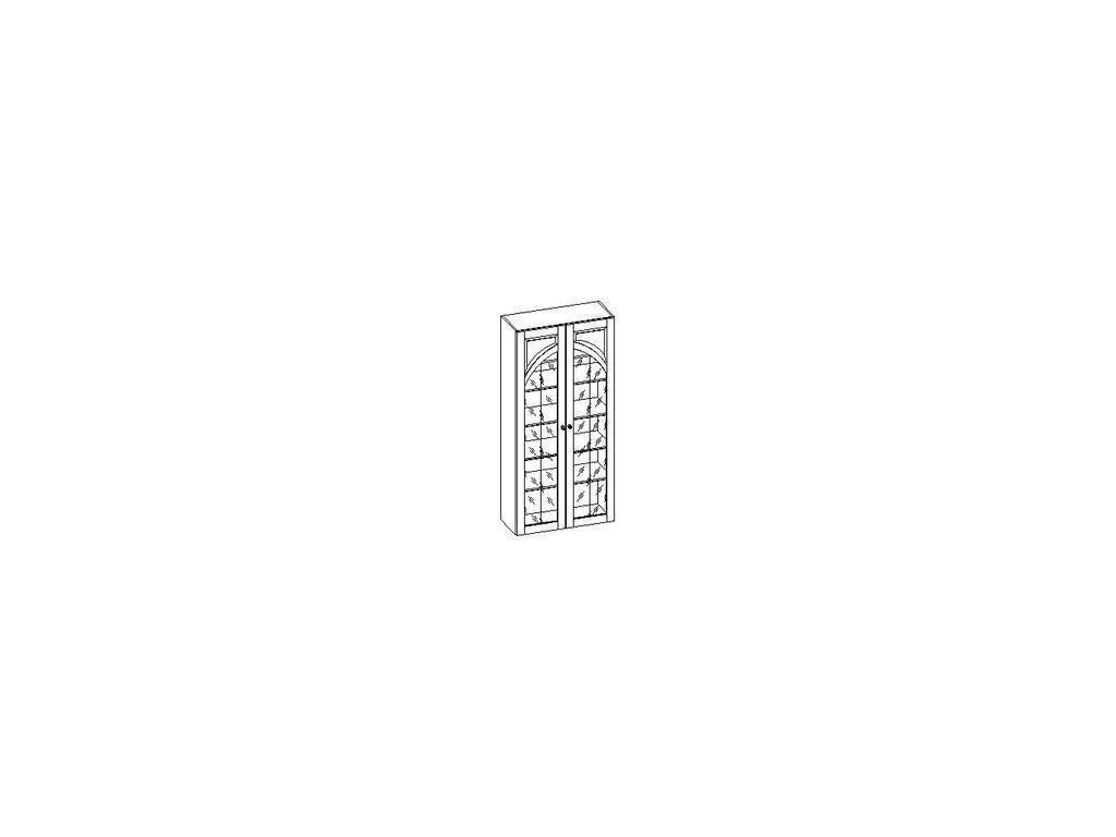Liberty: Сильвия: шкаф книжный  арочный (орех)
