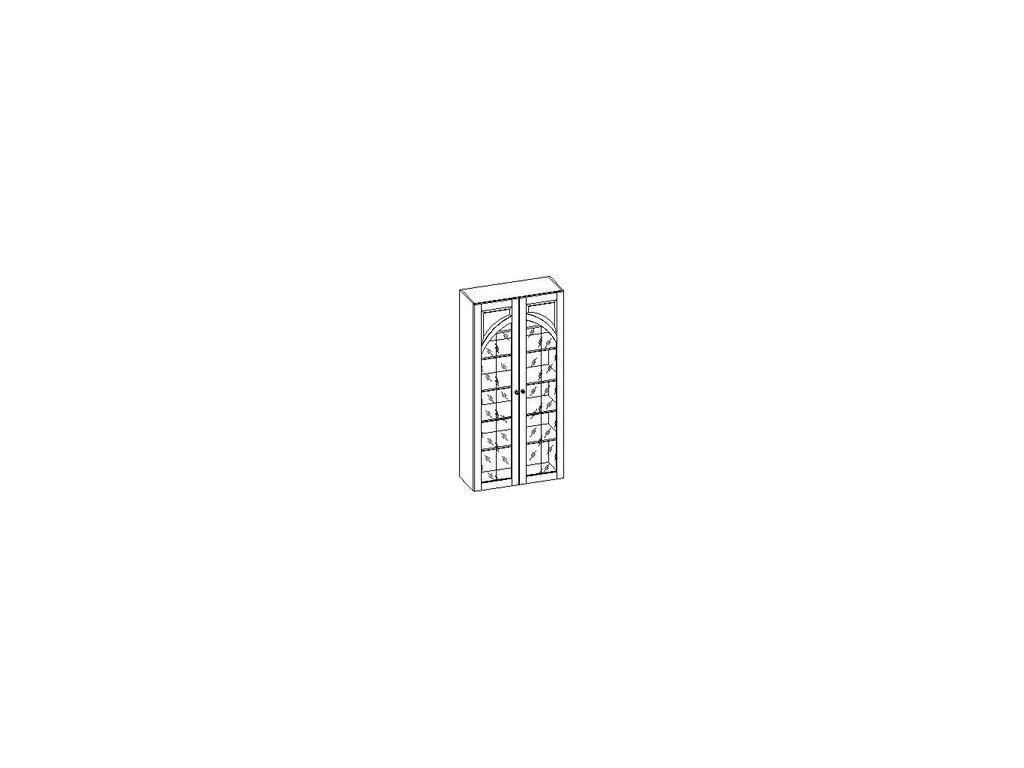 Liberty: Сильвия: шкаф книжный  арочный с перегородкой (орех)