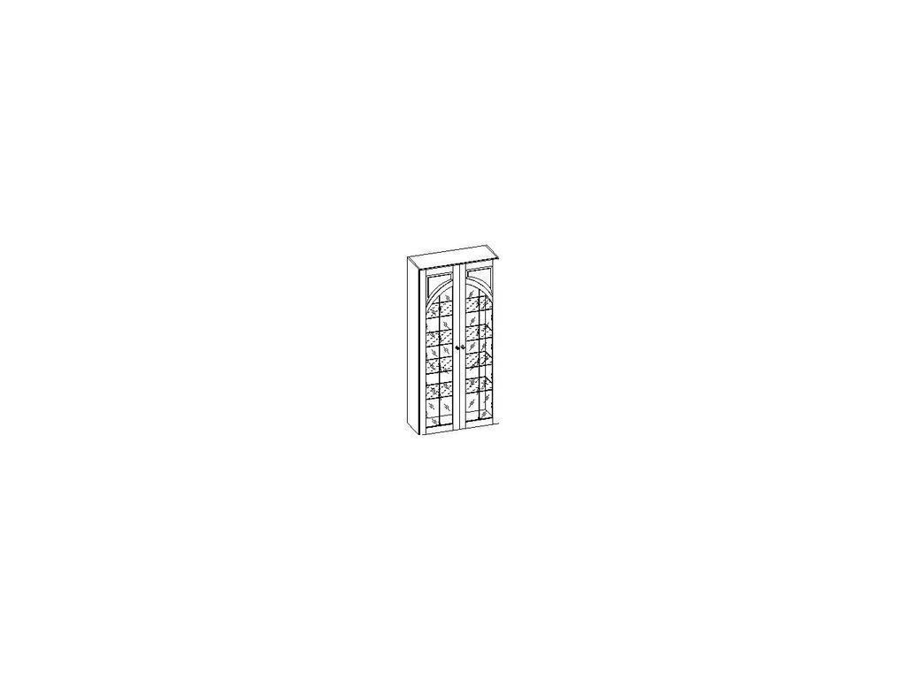 Liberty: Сильвия: витрина  арочная для посуды (орех)