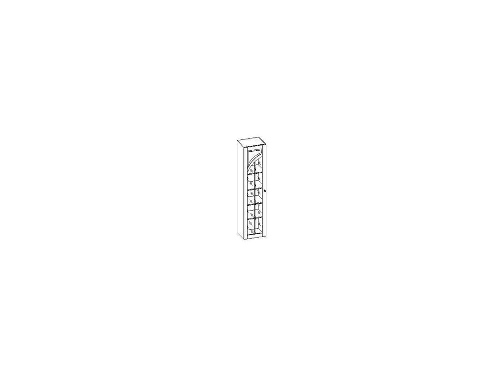 Liberty: Сильвия: шкаф книжный  левый (орех)