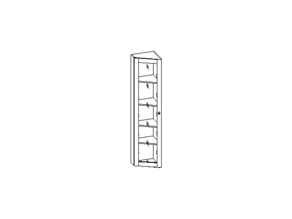Liberty: Сильвия: шкаф книжный  завершающий левый (орех)