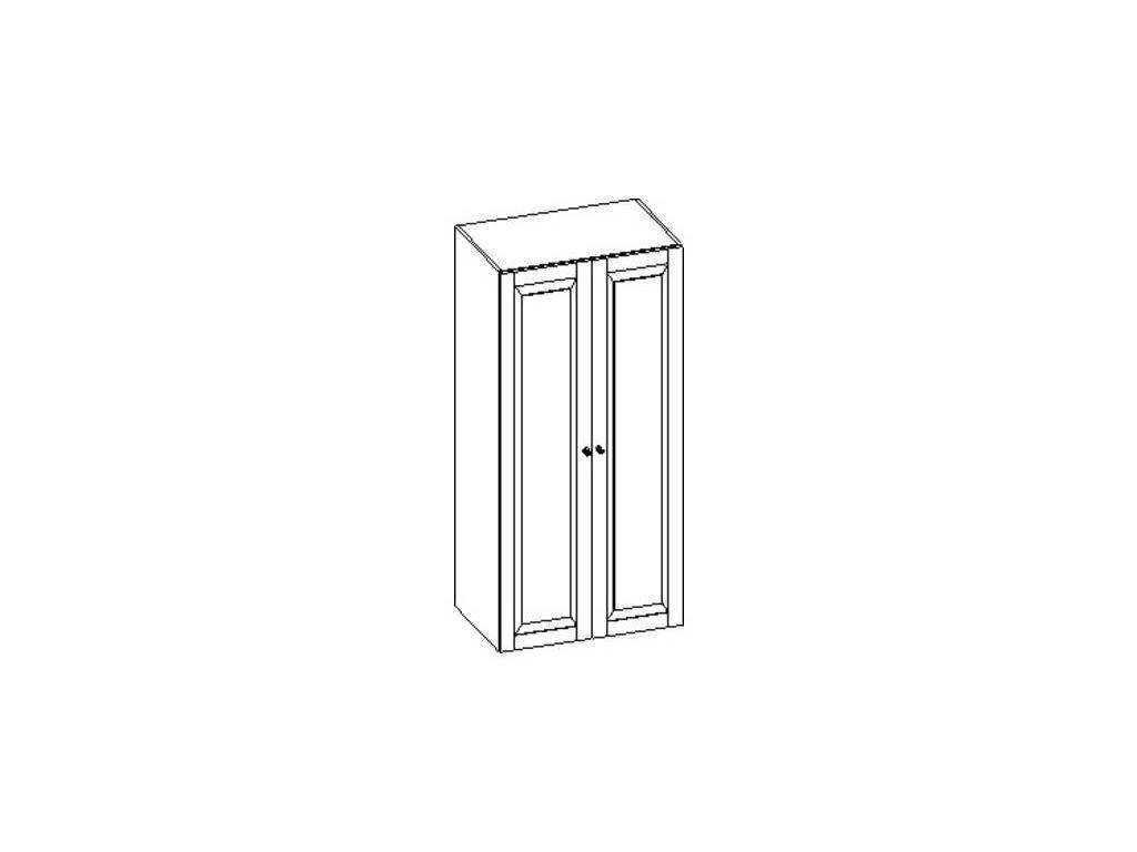 Liberty: Сильвия: шкаф 2-х дверный  (орех)