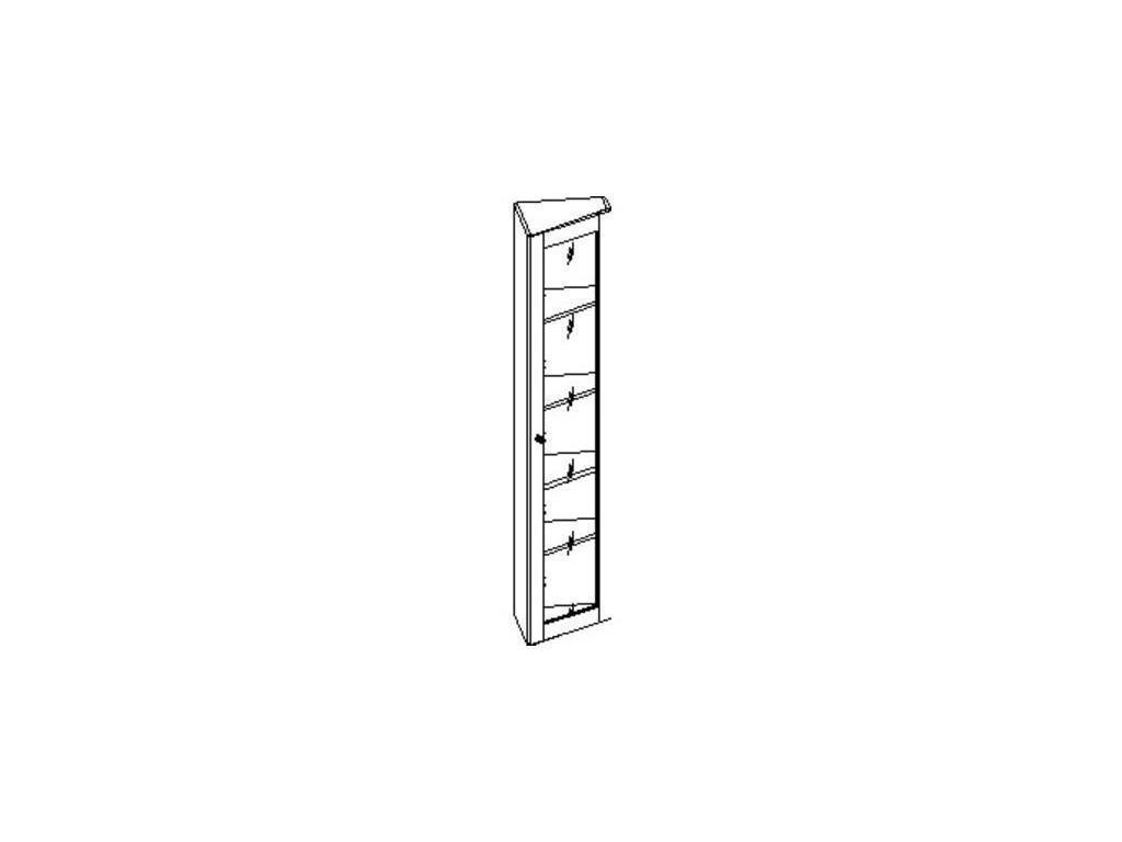 Свобода: Сильвия: шкаф книжный  завершающий правый (орех)