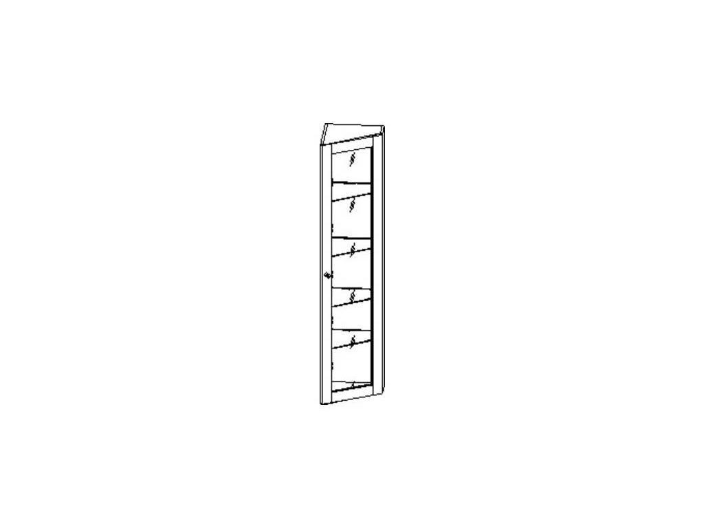 Liberty: Сильвия: витрина  завершающая правая (орех)