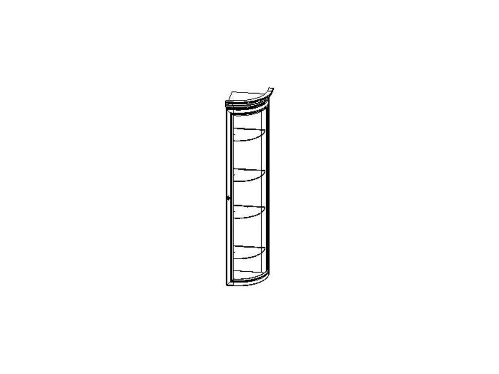 Liberty: Сильвия: витрина полукруглая  завершающая правая (орех)