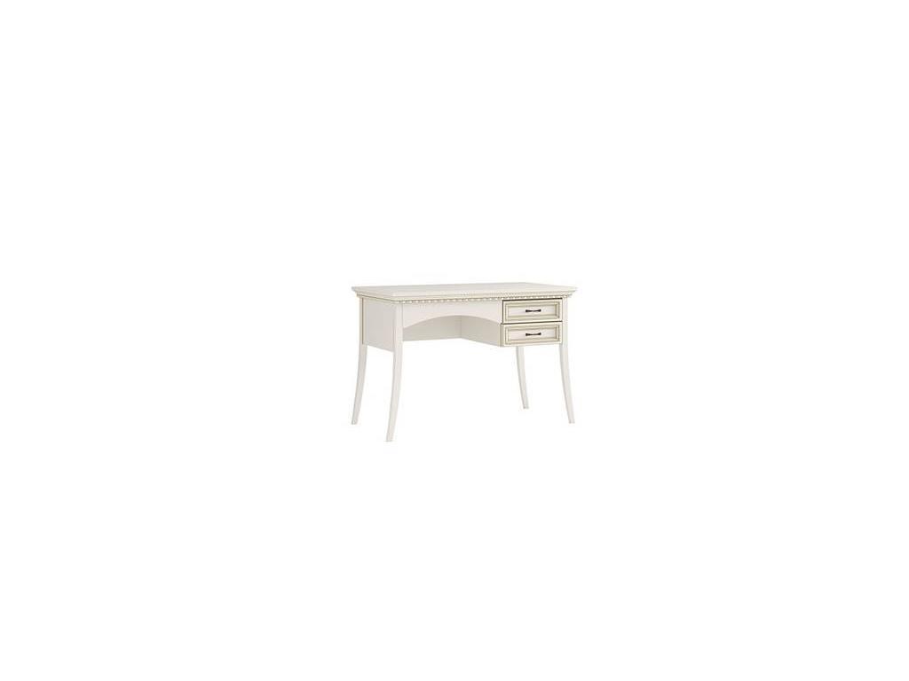 Liberty: Флоренция: стол письменный  2 ящ. (белый, золото)