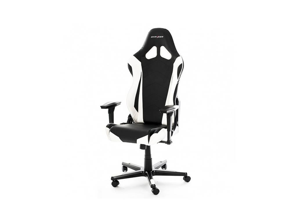 DXRacer: Racing: кресло компьютерное  (черный, белый)