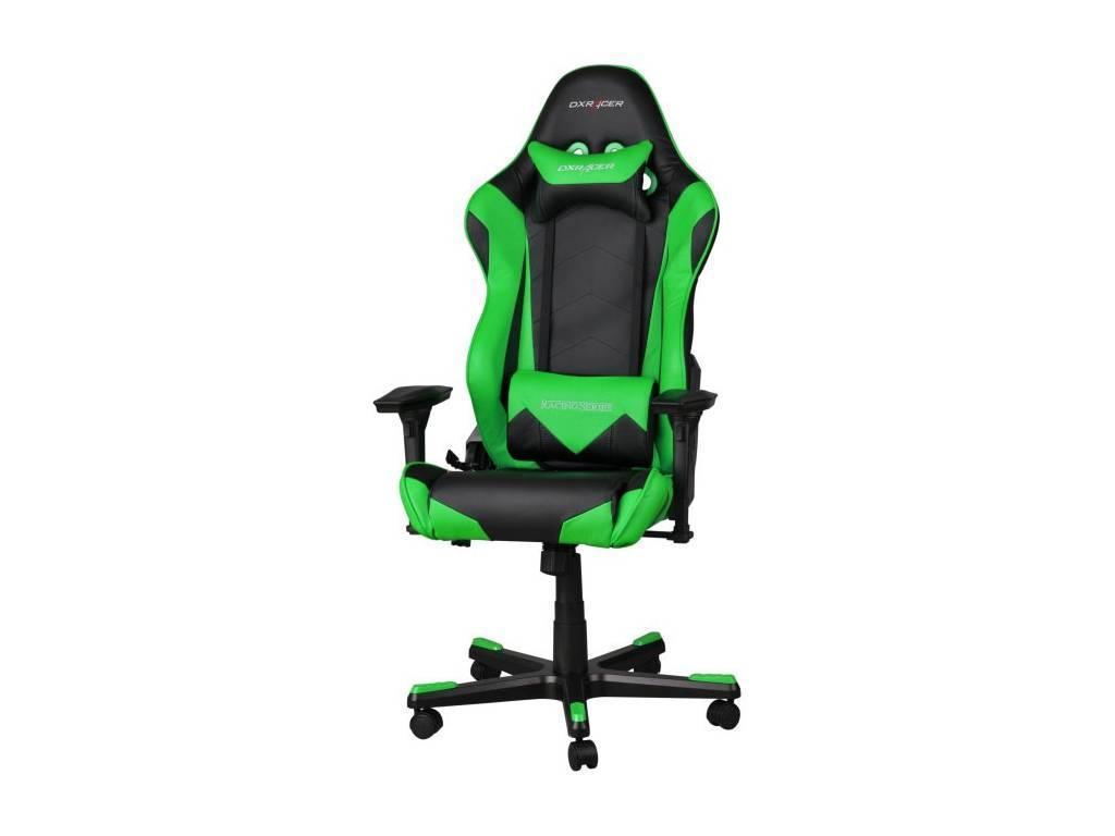 DXRacer: Racing: кресло компьютерное  (черный, зеленый)