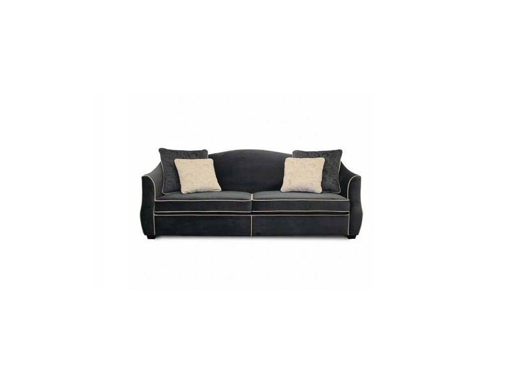 Liberty: Bergamo: диван 3-х местный  ткань (черный)