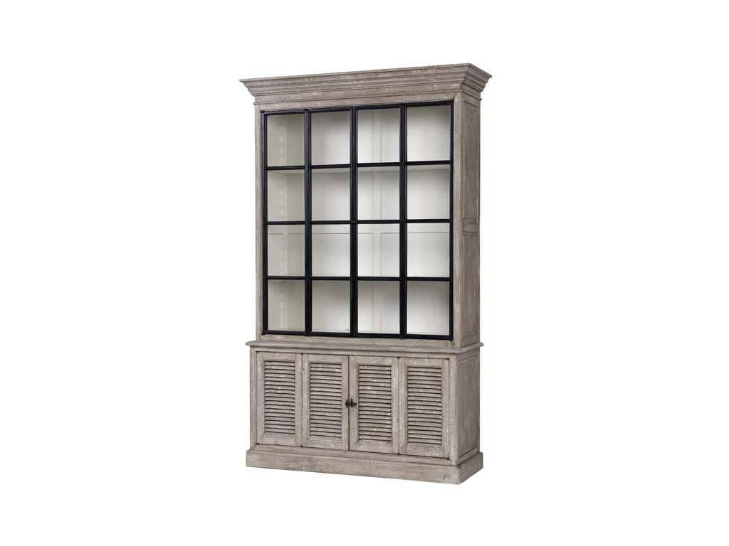 Eichholtz: Le Baron: витрина 2-х дверная  (серый декапе)