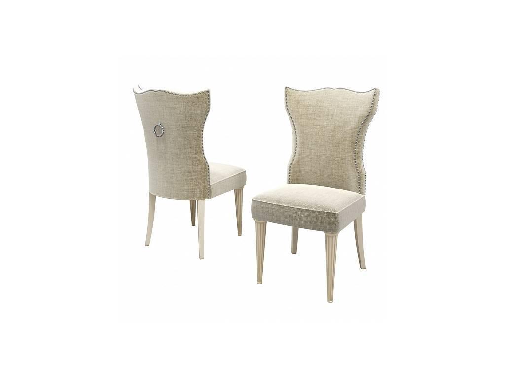 Zzibo Mobili: Венеция: стул  (ткань, белое золото)