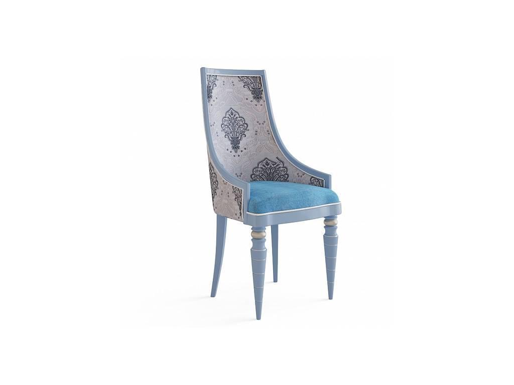 Zzibo Mobili: Sicilia: кресло  (синий, белое золото, ткань)