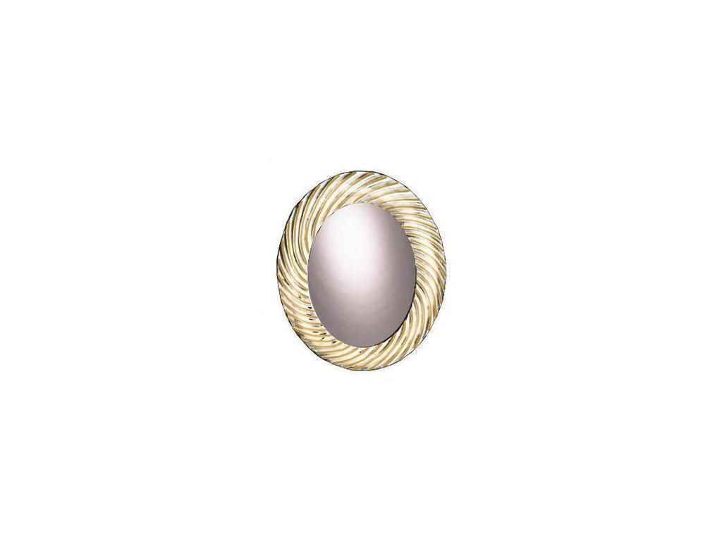 Zzibo Mobili: Патриция: зеркало настенное  (белый, золото)