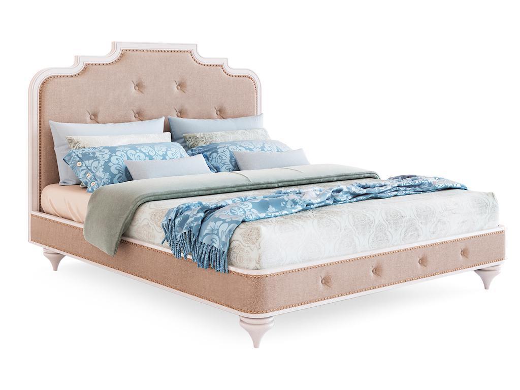 Zzibo Mobili: Оскар: кровать 180х200 ткань Velvet LUX (белый)