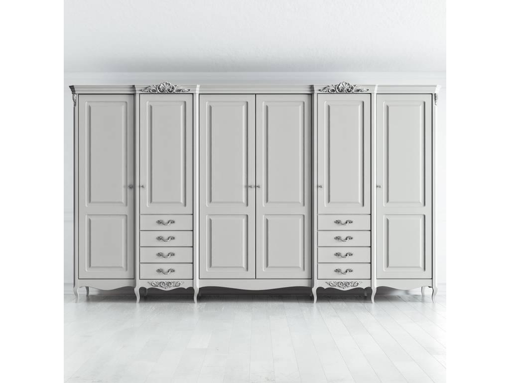 Latelier Du Meuble: Atelier Home: шкаф 6 дверный  (серо-бежевый, серебро)