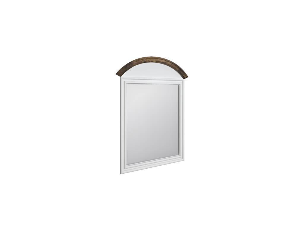 LAtelier Du Meuble: Villar: зеркало настенное  (белый антик, тёмный дуб)