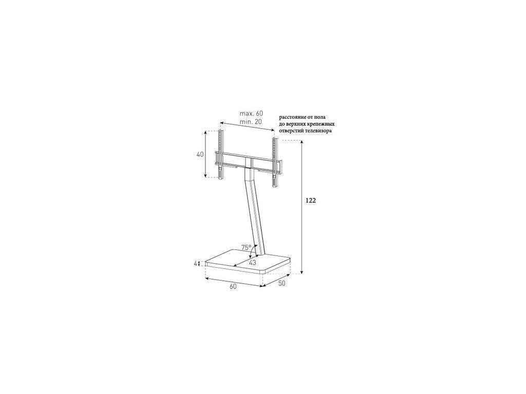 Sonorous: PL 2700: стойка под телевизор  (черное стекло, стальной)