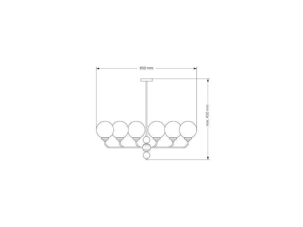 Kutek: Abano: люстра потолочная  (никель)