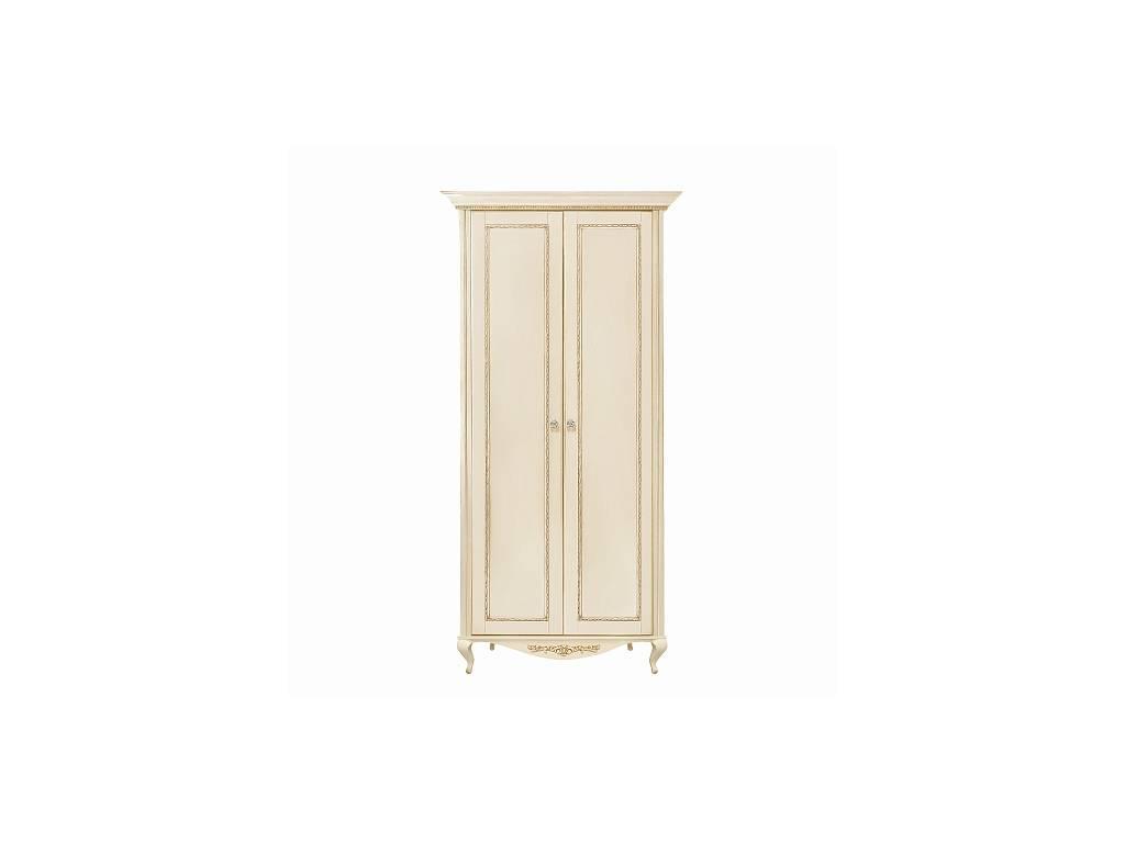 Liberty: Неаполь: шкаф 2-х дверный  (ваниль, золото)