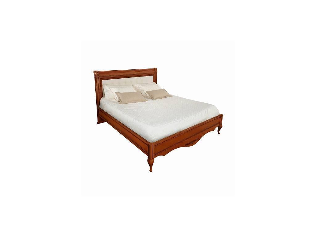 Liberty: Неаполь: кровать 180х200 без изн-я с мягкой спинкой  (янтарь)