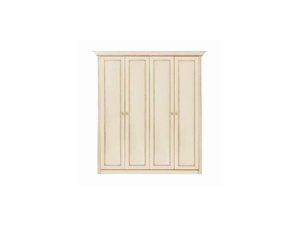 Liberty: Палермо: шкаф 4-х дверный  (ваниль, золото)