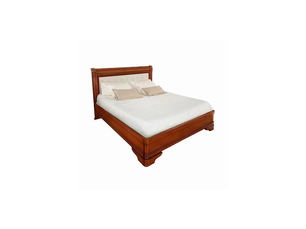 Liberty: Палермо: кровать 160х200 без изн-я с мягкой спинкой  (янтарь)