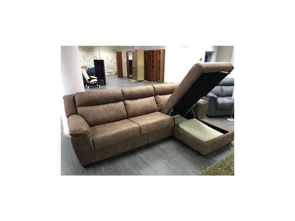 F. Divani: Алабама: диван угловой раскладной тк. Madrid (коричневый)