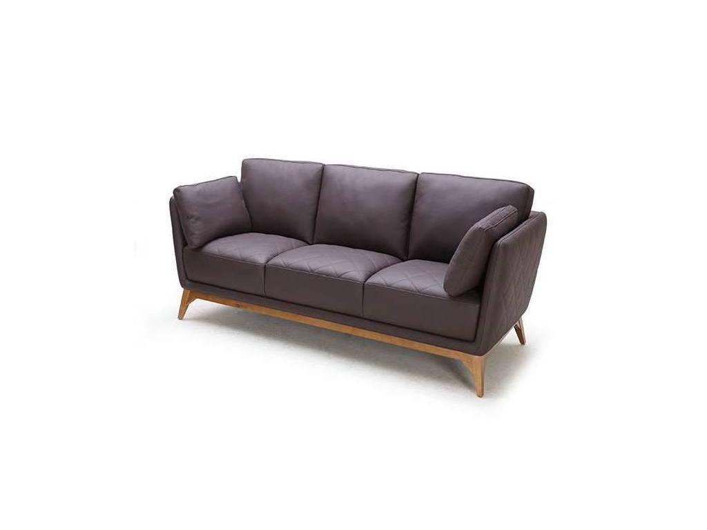 F. Divani: Огайо: диван 3 местный (коричневый)