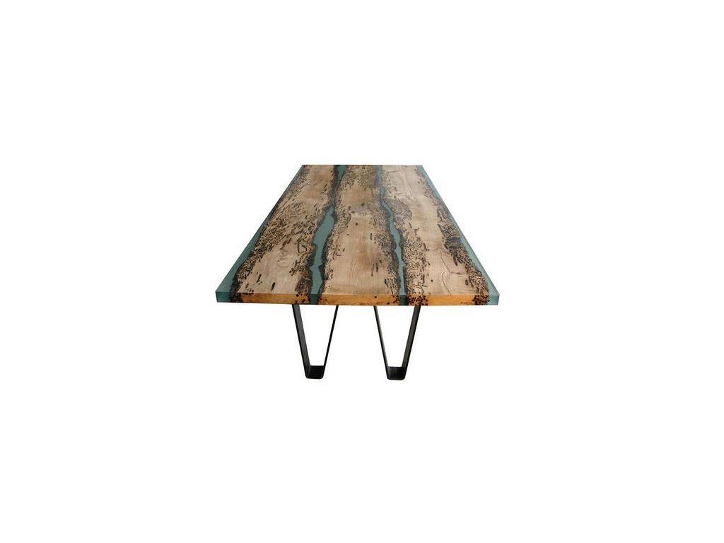 СКС: Дерево: стол обеденный (дерево, эпоксидная смола)