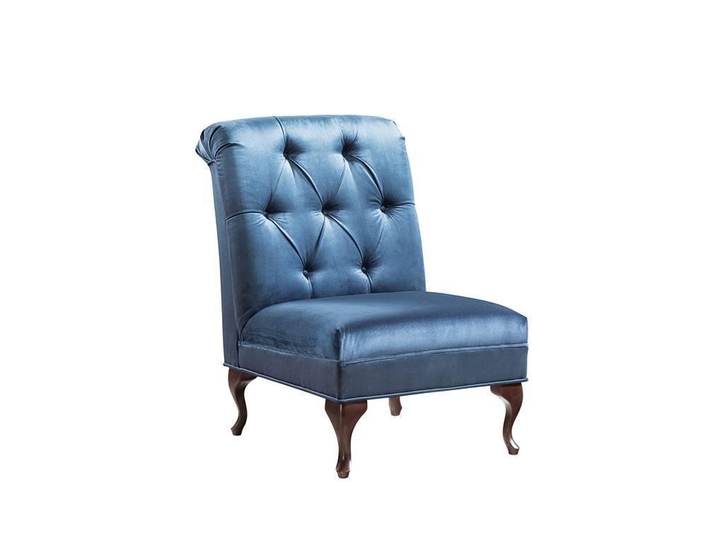 Taranko: Classic: кресло без подлокотников (орех, ткань синий)