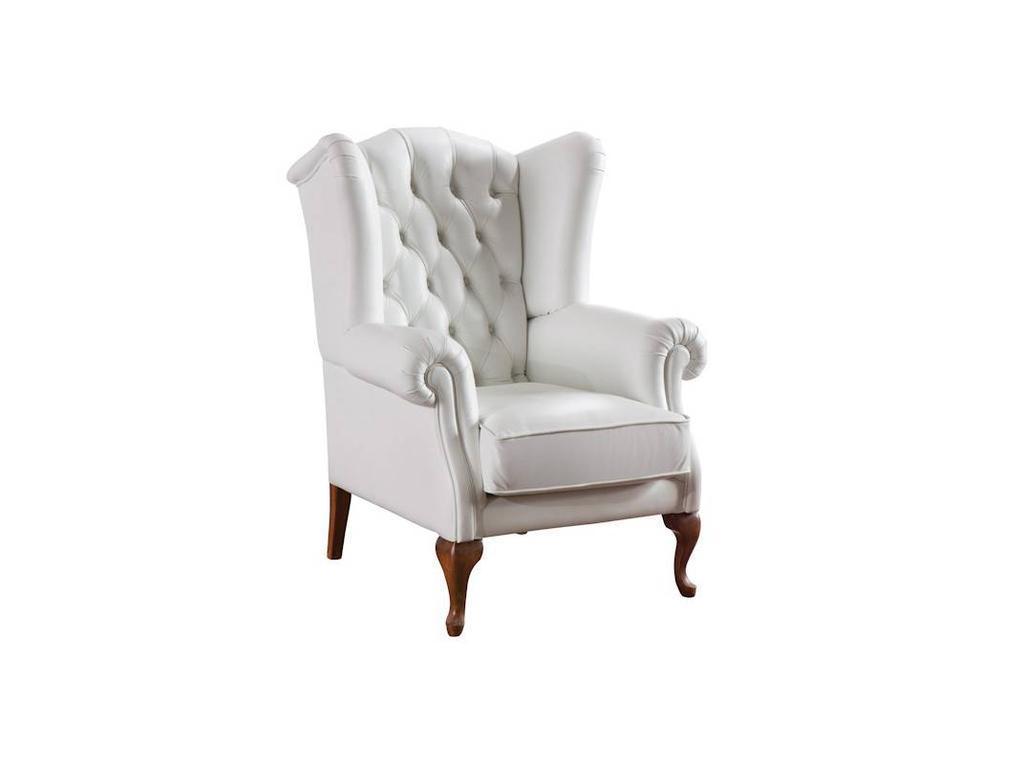 Taranko: Classic: кресло CL-Fotel (орех, кожа белый)