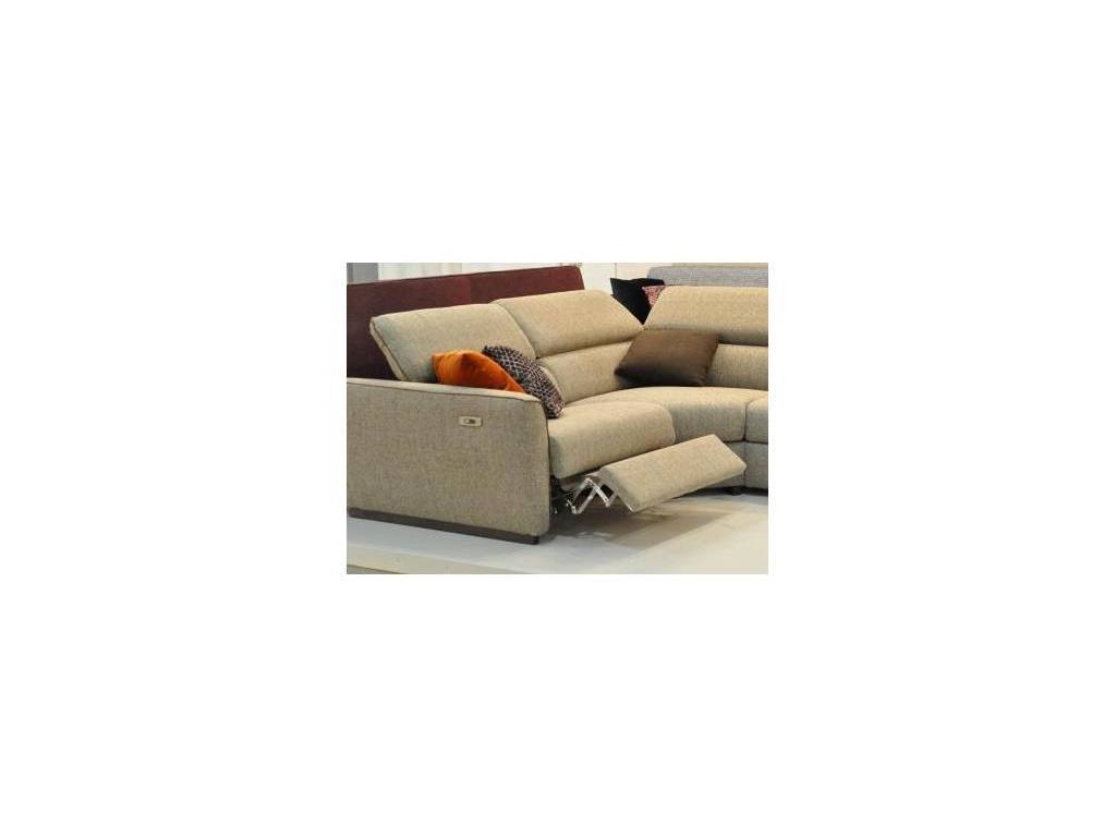 Dienne: Fellini: диван угловой раскладной (ткань, коричневый)