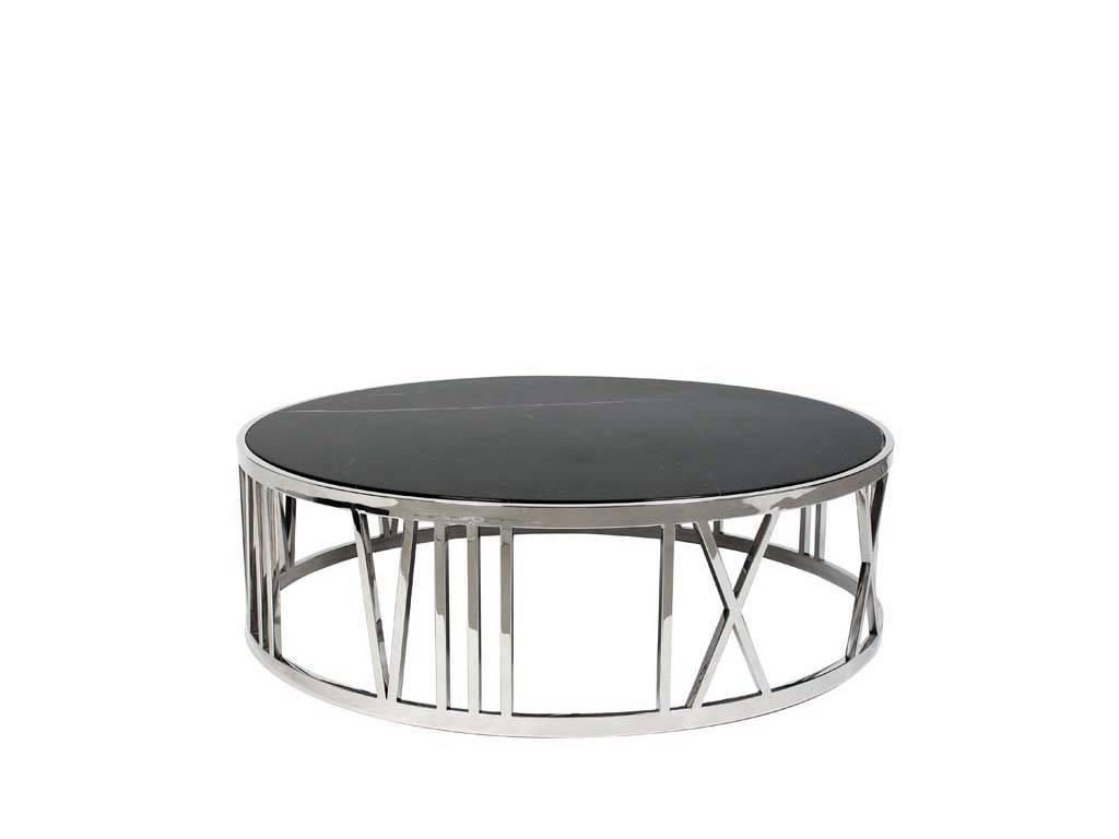 Eichholtz: Baccarat: стол журнальный  (металл, мрамор)