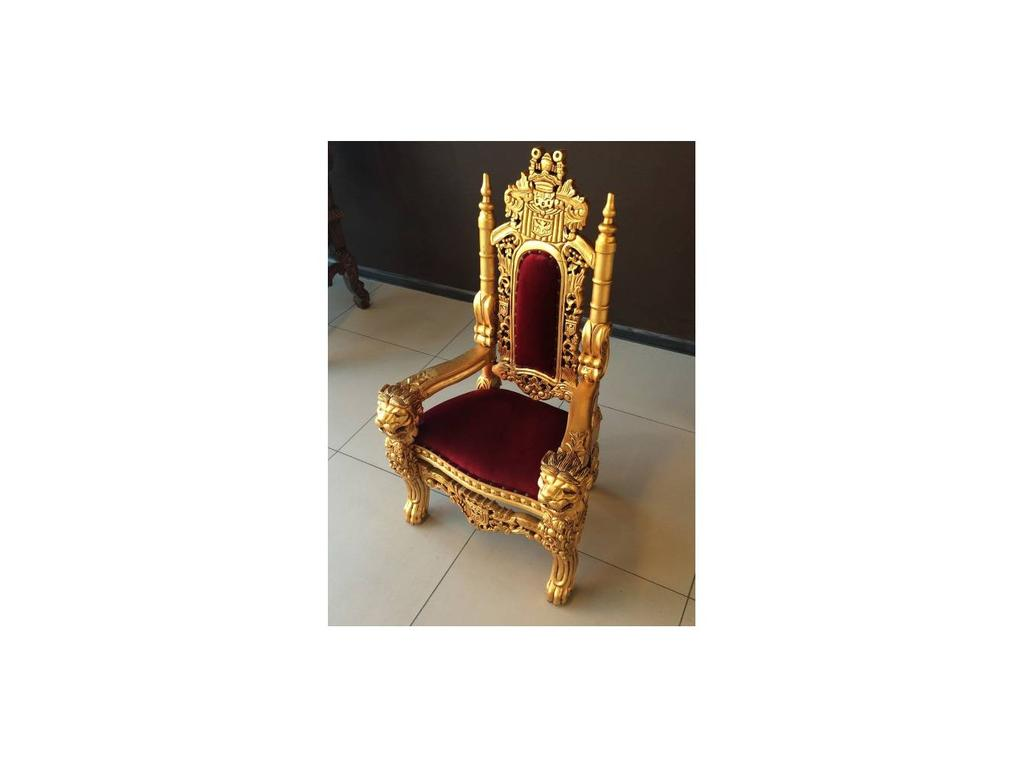 Jakarta: Трон Лев: кресло детское  (золото, ткань)