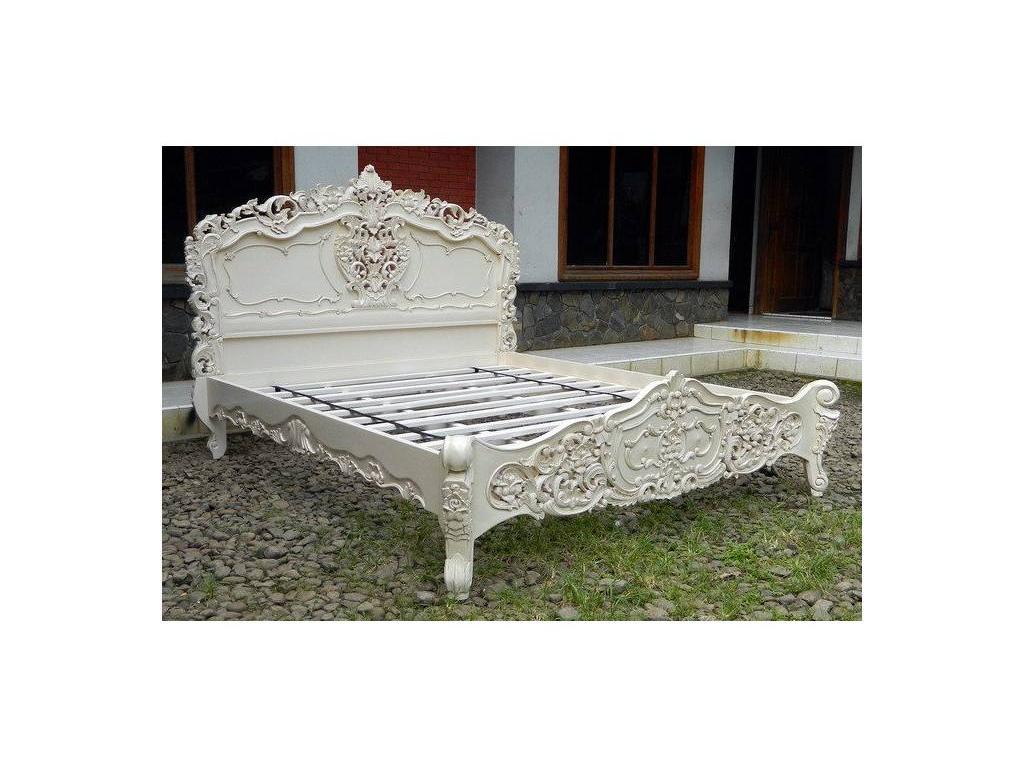 Jakarta: Рококо: кровать 180х200  (слоновая кость)
