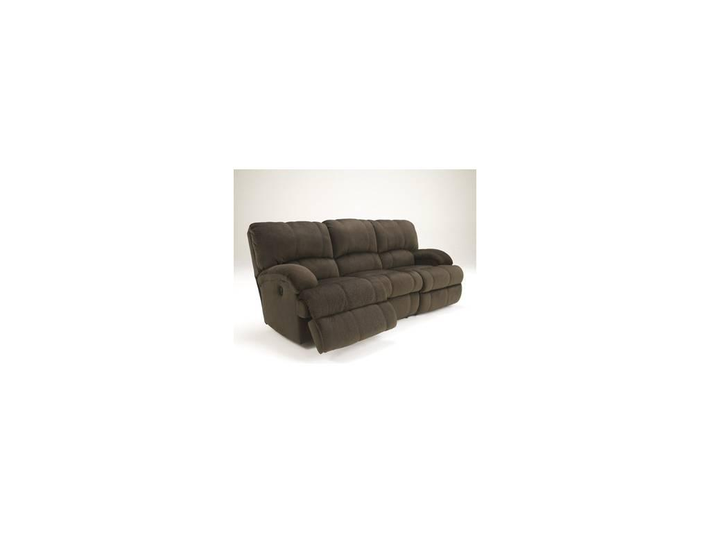 Ashley: Kiska: диван 3 местный  с реклайнером (коричневый)