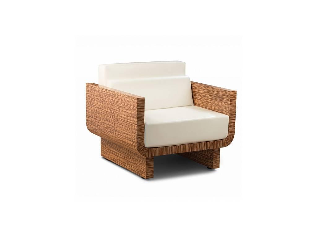Zzibo Mobili: Tokyo: кресло (белый глянец, матовый зебрано)
