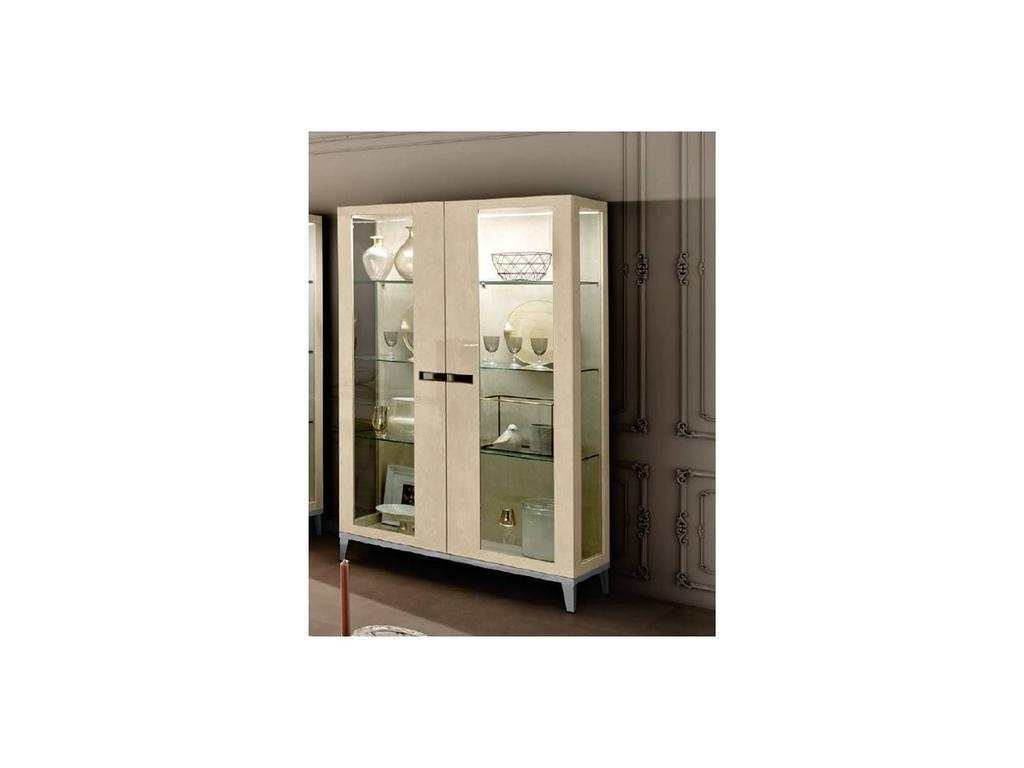 Camelgroup: Ambra: витрина 2 дверная боковины стекл. (янтарная береза)