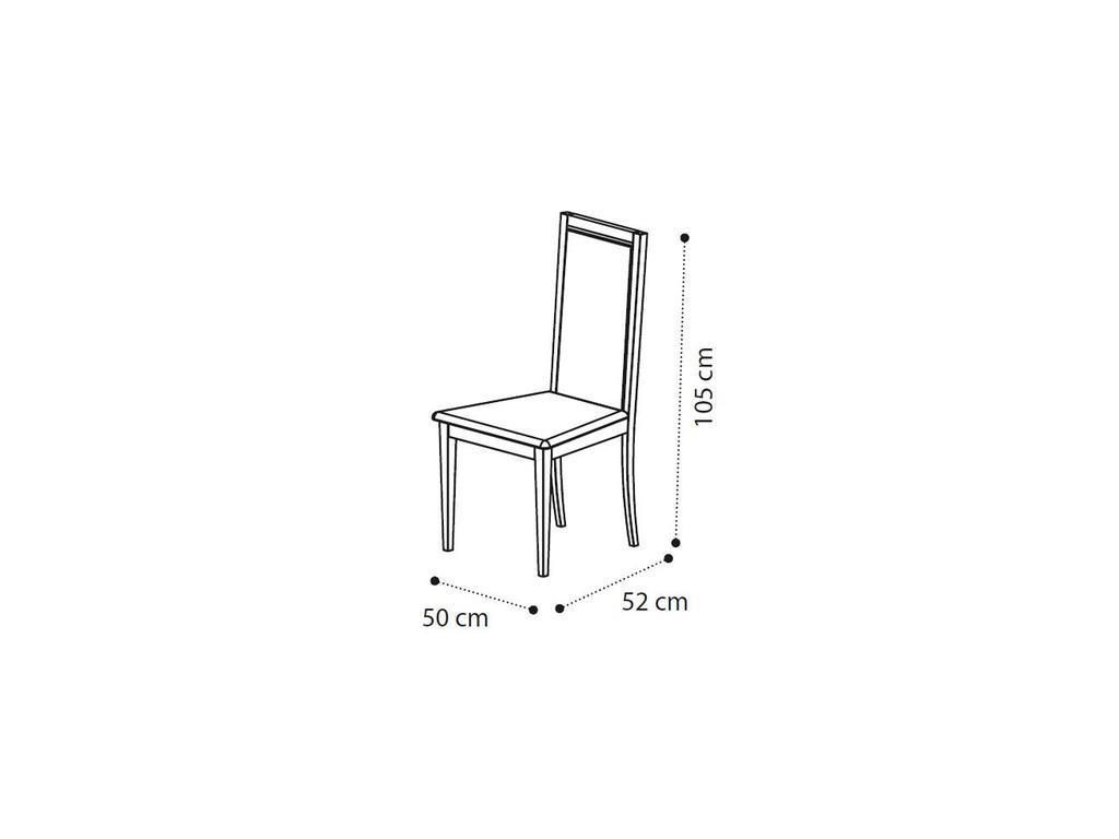 Camelgroup: Ambra: стул Liscia экокожа nabuk COL.12 (янтарная береза)