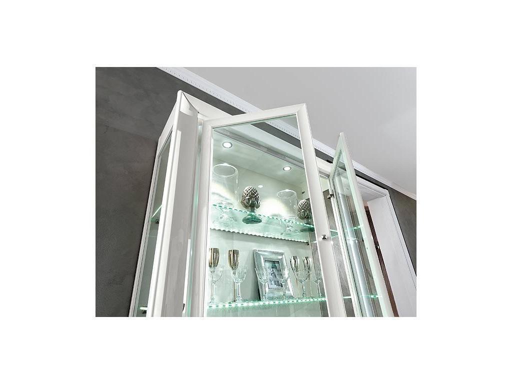 Camelgroup: Dama: витрина 2 дверная (белый)