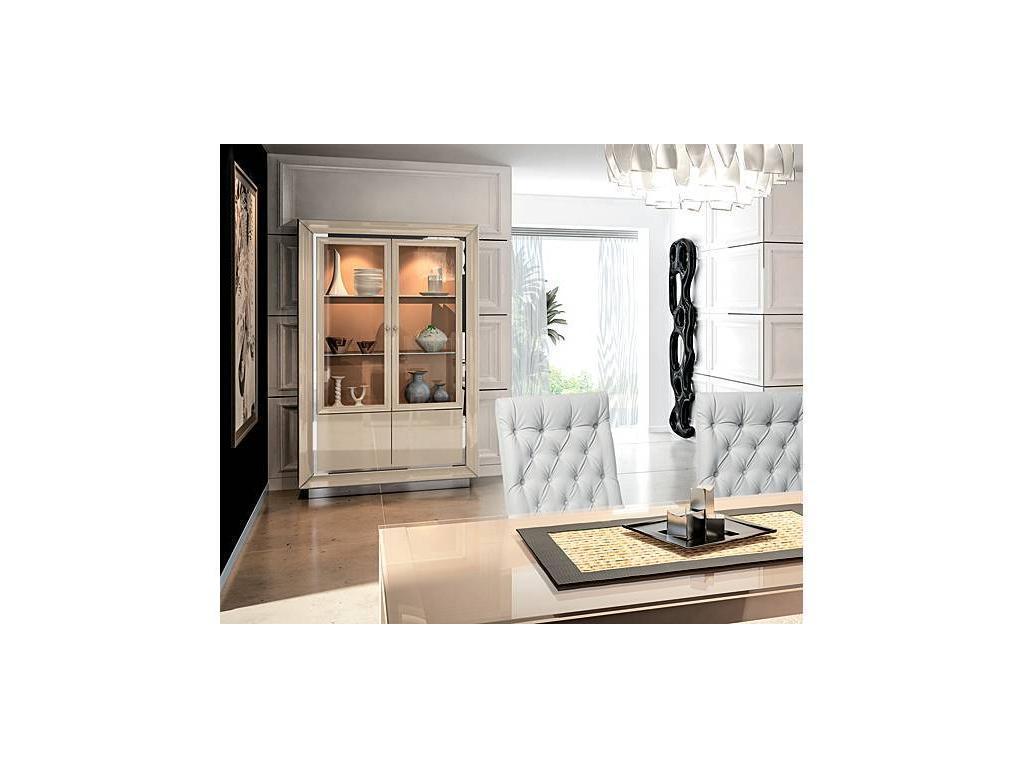 Camelgroup: La Star: витрина 2 дверная  (слоновая кость)