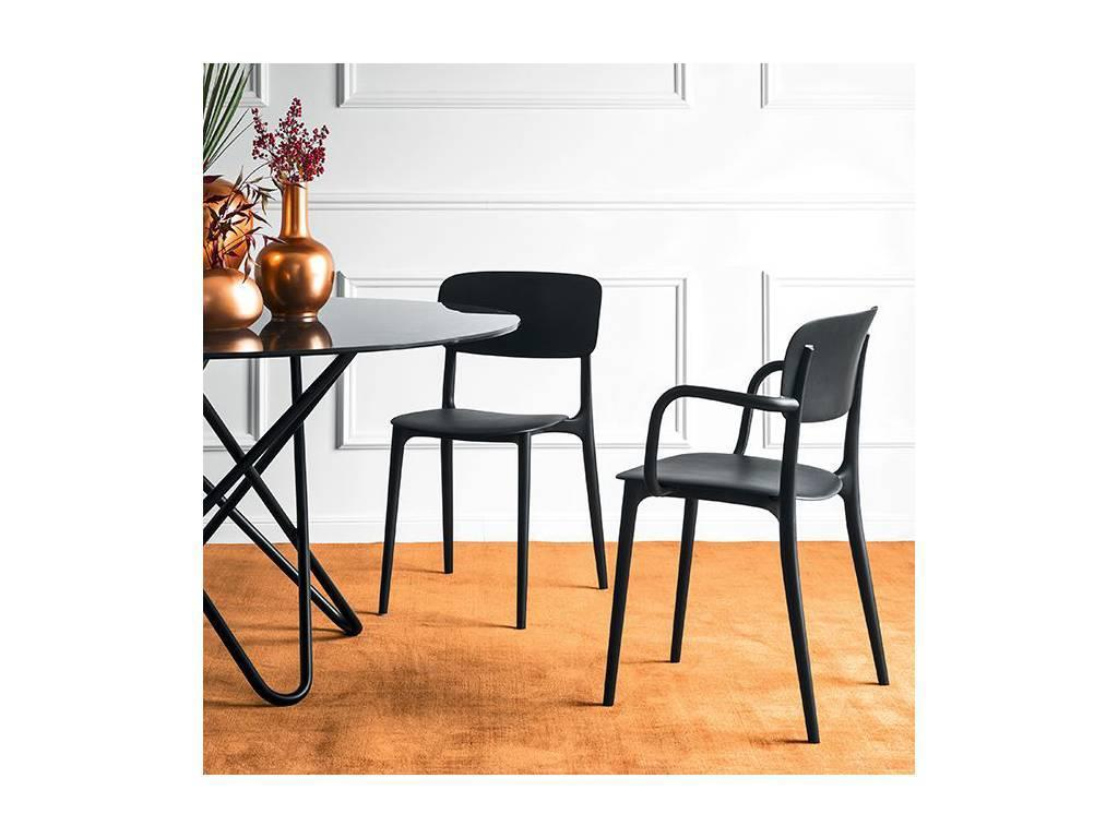 Calligaris: Liberty: стул с подлокотниками  (красный)