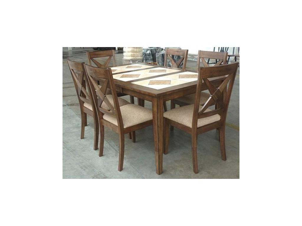 Megapolis: стол обеденный  раскладной (орех темный)