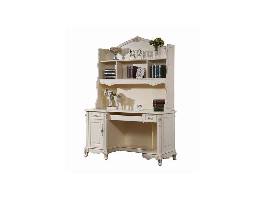 HFI: Милано: стол письменный  с надстройкой (слоновая кость)