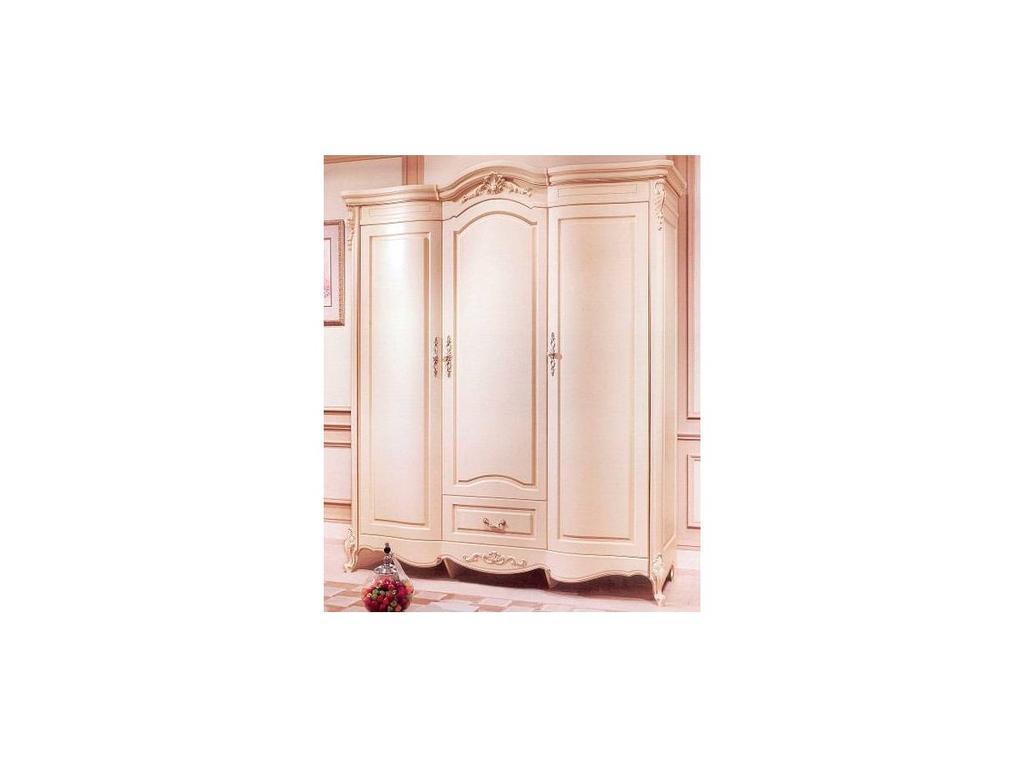 HFI: Милано: шкаф 3 дверный  без зеркал (слоновая кость)