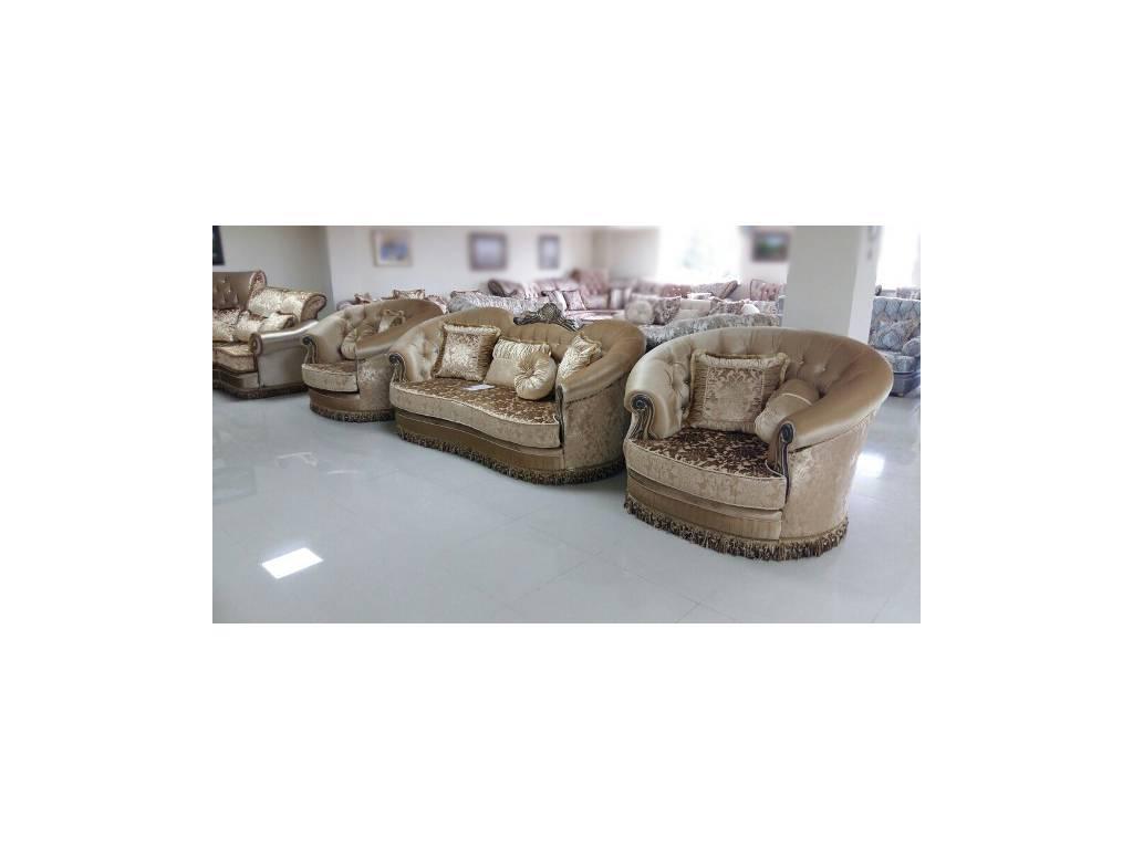 Ustie: Султан: комплект мягкой мебели (ткань)