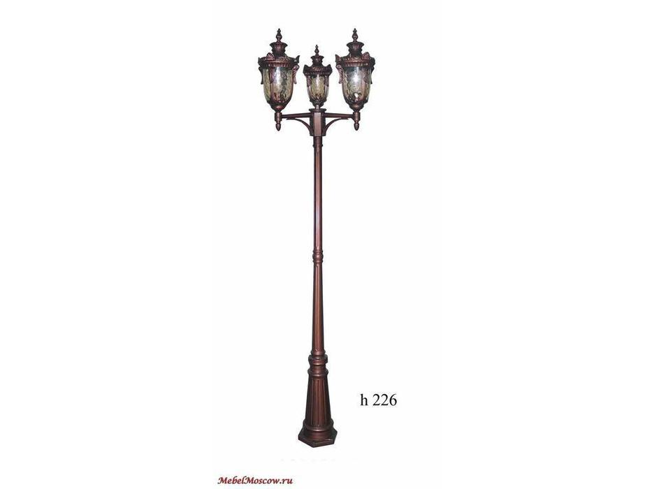 фонарь-столб SG2003-3-М (ST\CG черносеребристый\прозрачный волнистый)