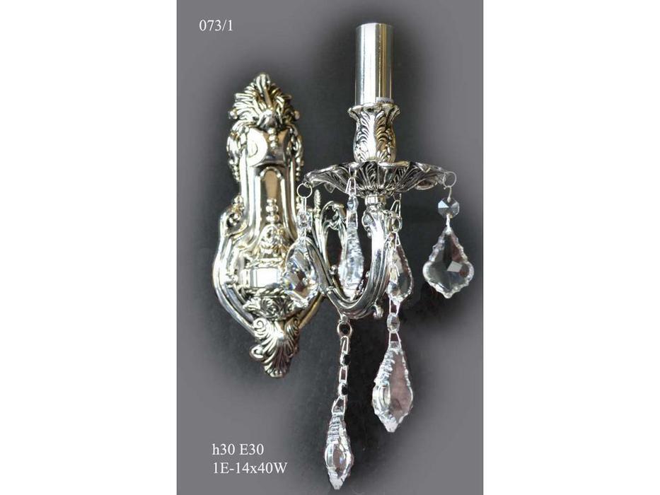 бра 073/1 (черн.серебро /хрусталь)